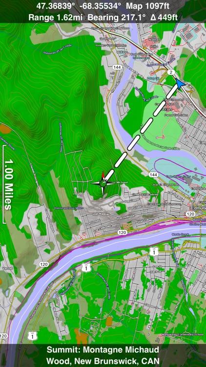 Scenic Map Eastern Canada screenshot-0