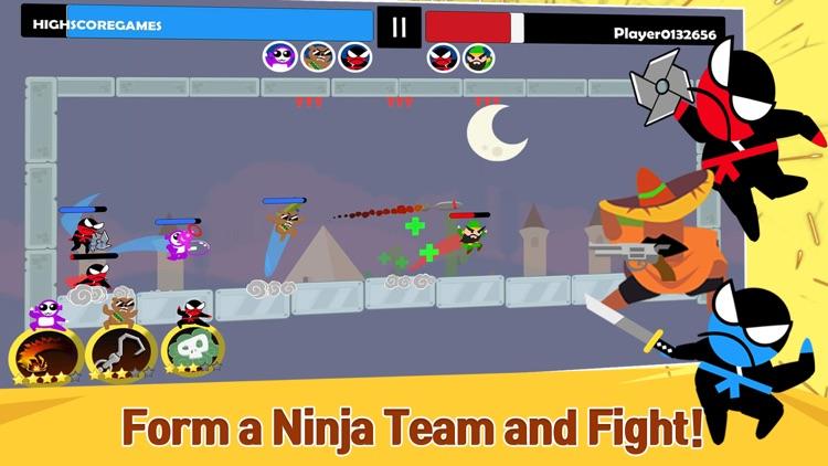 Jumping Ninja Battle - 2Player screenshot-0