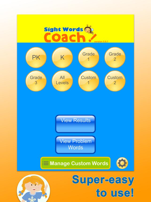 Sight Words: Dolch Coach Screenshot