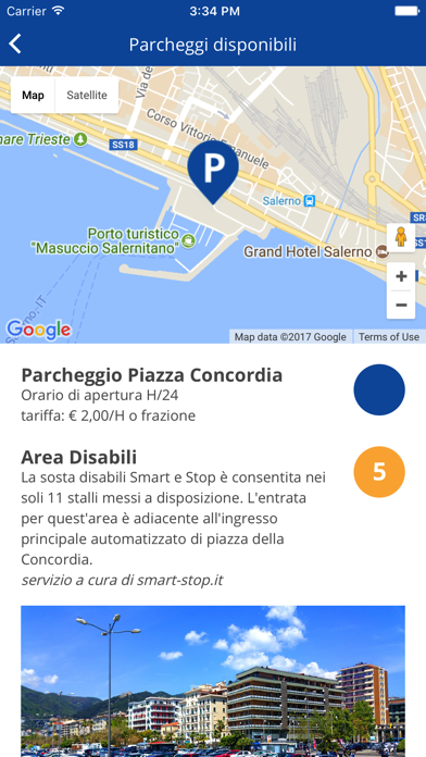 Screenshot of Salerno Mobilità3