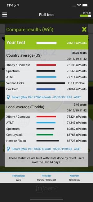 nPerf internet speed test on the App Store