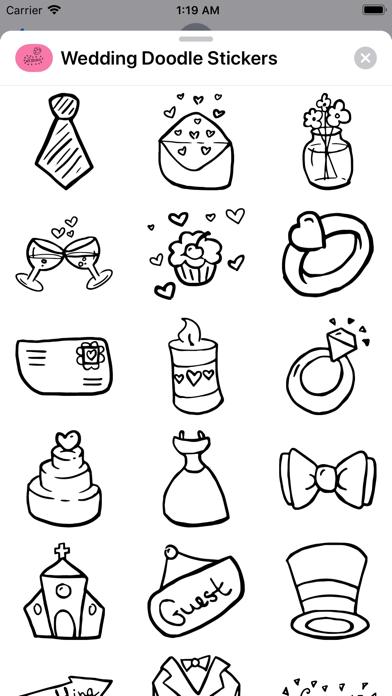 Screenshot for Wedding Doodle Stickers in New Zealand App Store