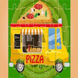 Pizza Truck Jigsaw By Natalie Mitchell