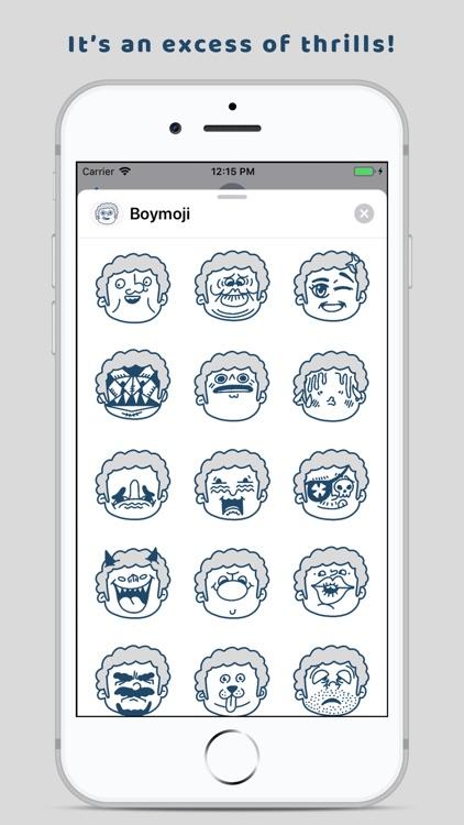 Boymoji - Cartoon Sticker Pack screenshot-4