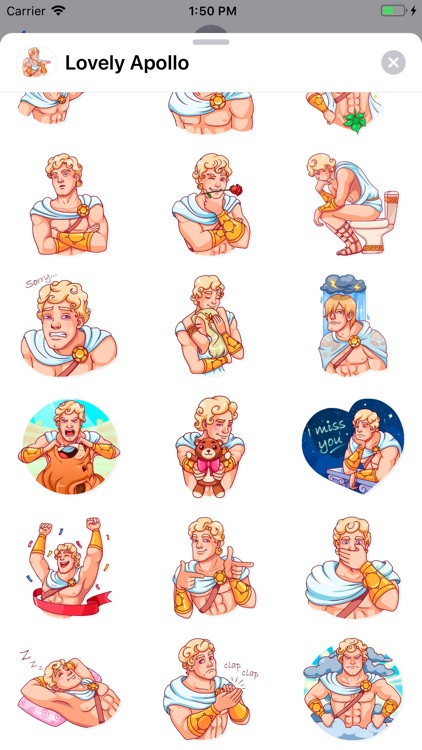 Lovely Apollo Sticker Pack