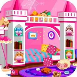 Princess room cleanup games