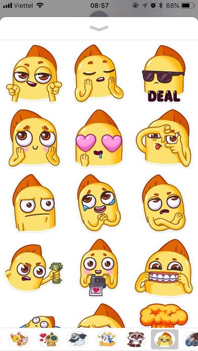 Snappy Emoji Funny Stickers screenshot 1