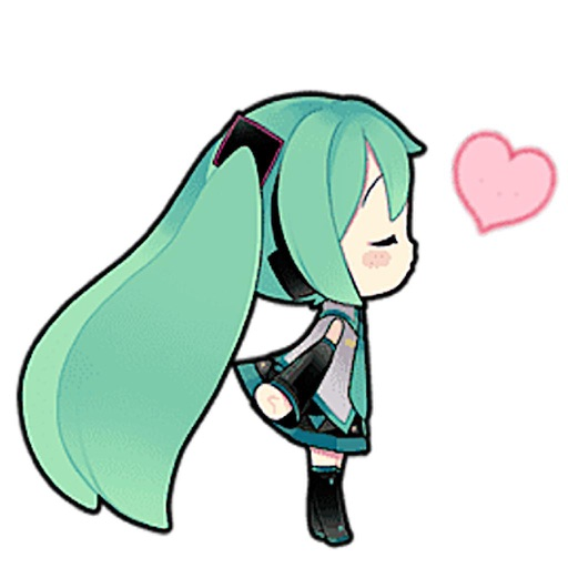 Happy Miku And Gang HD Sticker