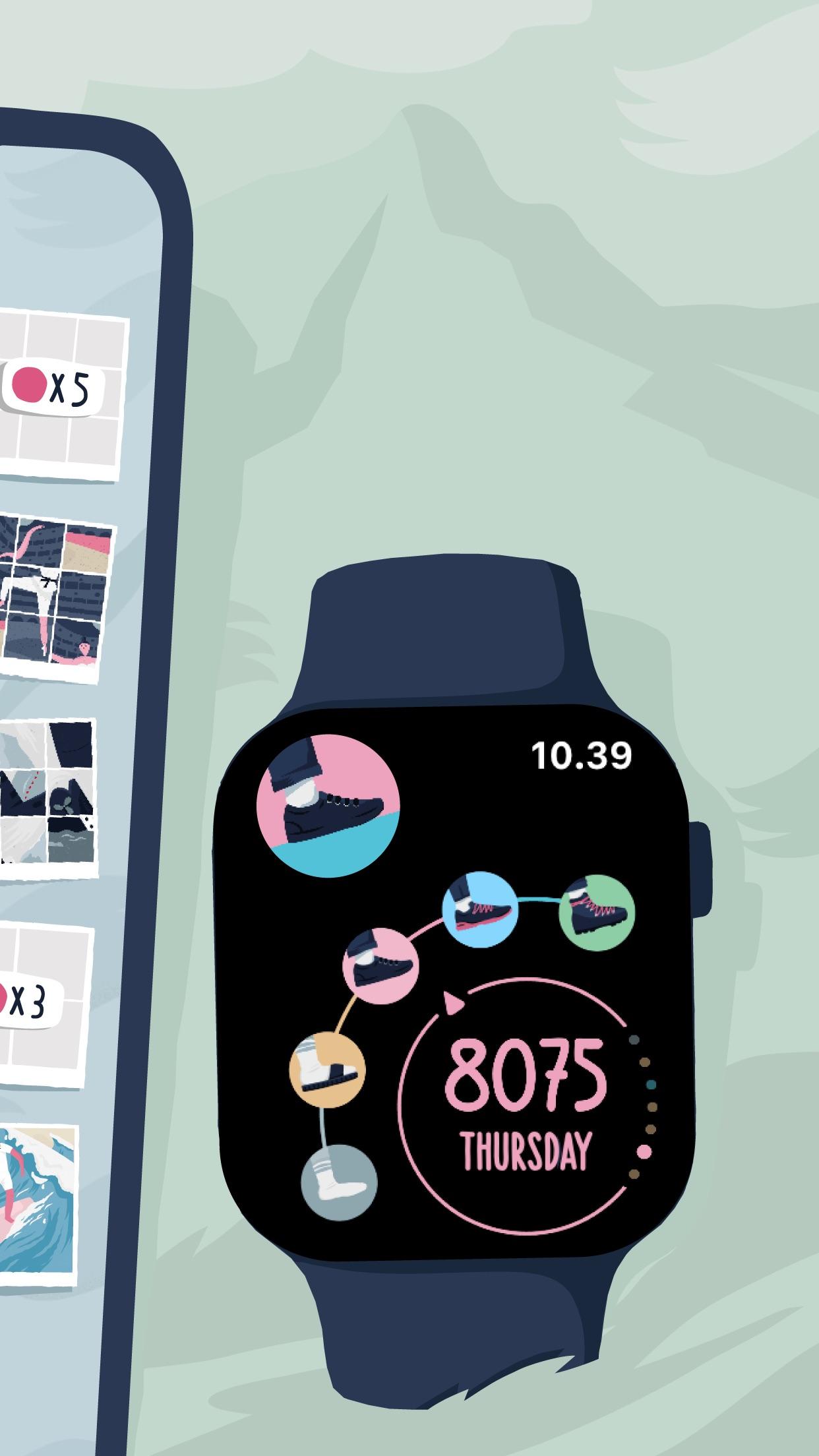 Screenshot do app Stepics