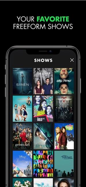 Freeform TV on the App Store