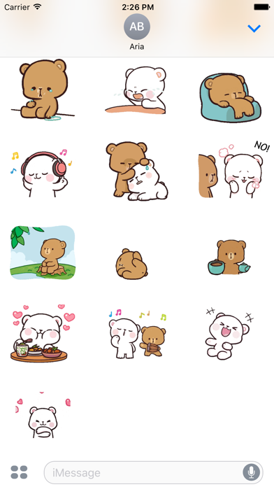 Animated Lovely Bear Couple screenshot 5