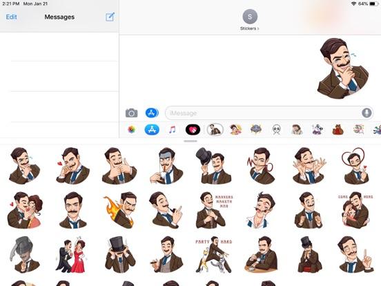 Gentleman Style Funny Stickers screenshot 4