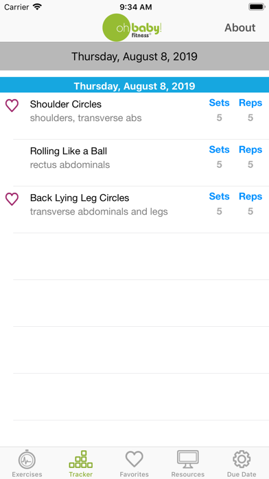 Oh Baby! Pregnancy Exercise Screenshot 4