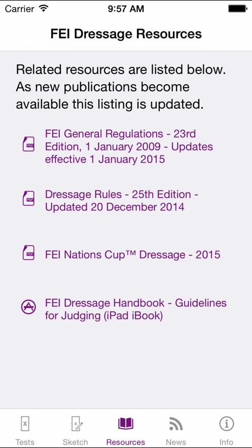FEI EquiTests 3 - Dressage App 截图