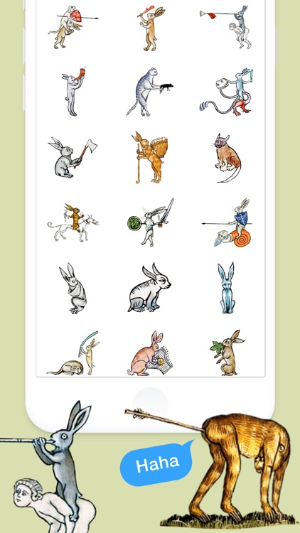 Medieval Rabbit Stickers