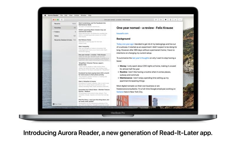 极光阅读 for Mac
