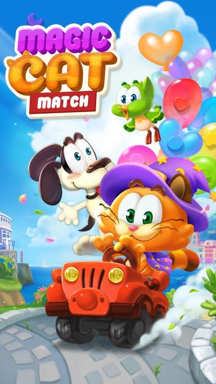 Magic Cat Match: Swipe & Blast screenshot-4
