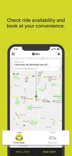 Ola Cabs on the App Store