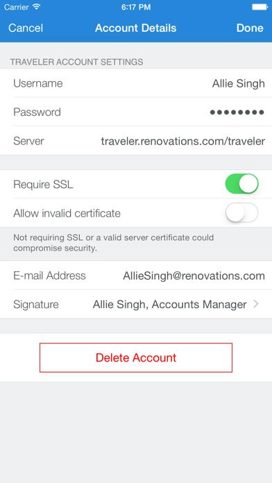 IBM Traveler Companion ScreenShot0