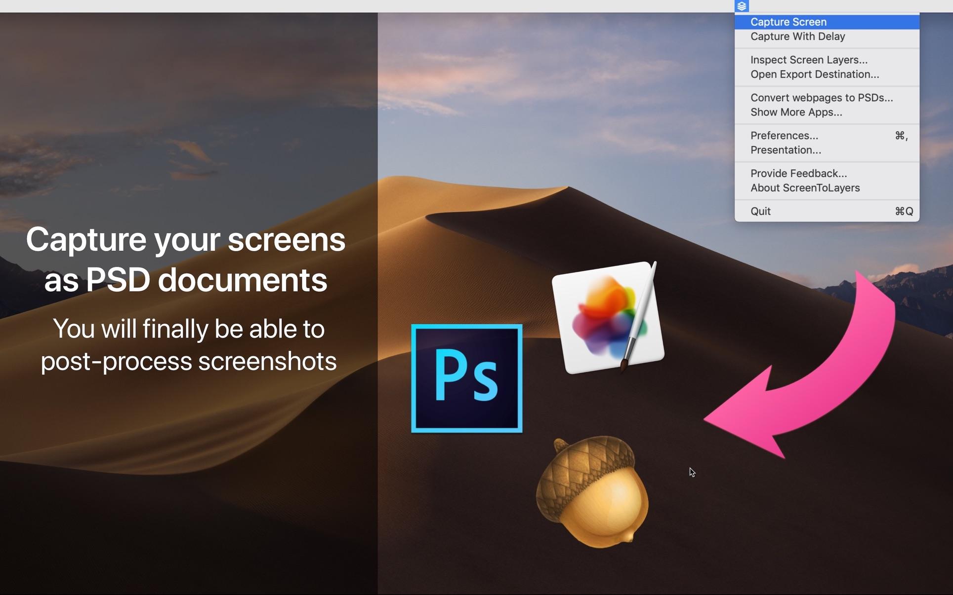 ScreenToLayers Mac 免费版 屏幕截图转Photoshop文档-麦氪派(WaitsUn.com | 爱情守望者)