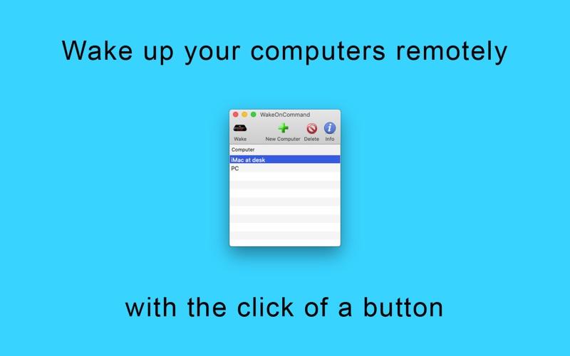 WakeOnCommand for Mac