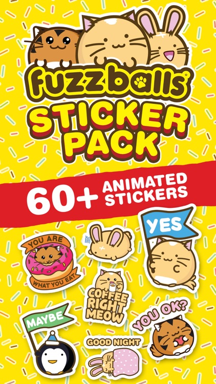 Fuzzballs Animated Stickers