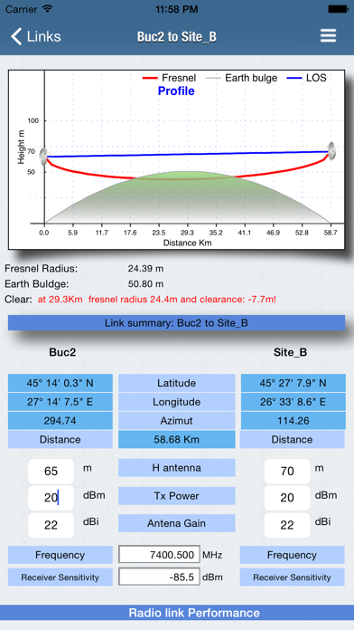 RF Haversine Lite - Radio Link Screenshots