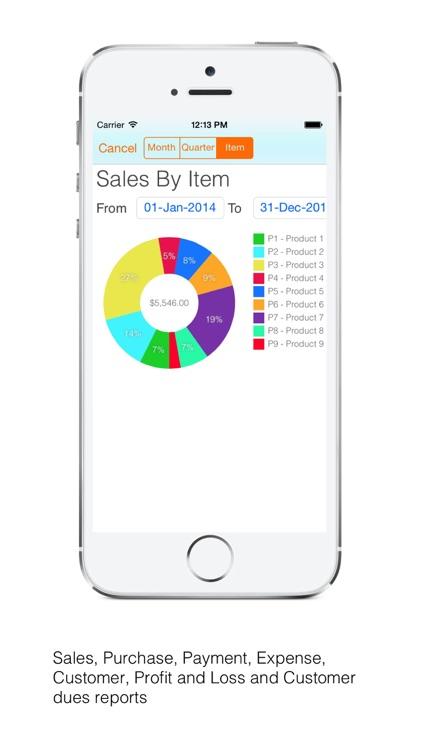 Cloud Invoice Pro : Email PDF screenshot-3