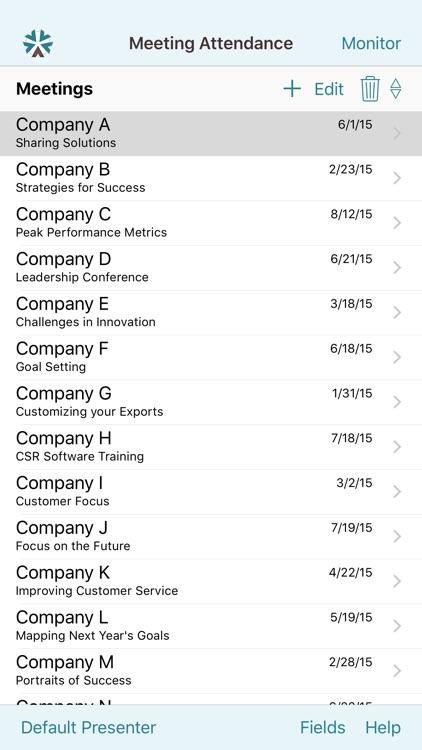 Meeting Attendance for iPhone screenshot-3