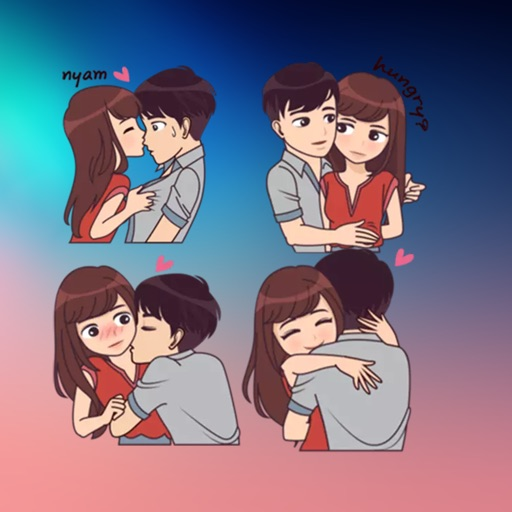 New Love Couple  Stickers HD