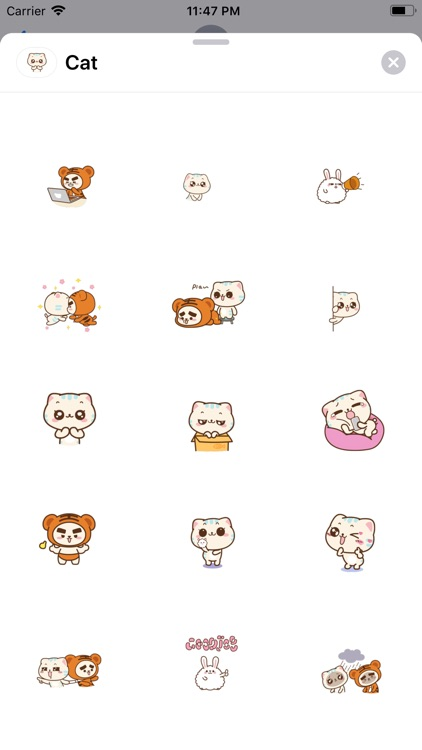 Lovey Cat Animated Stickers screenshot-3