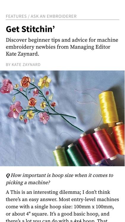 Creative Machine Embroidery