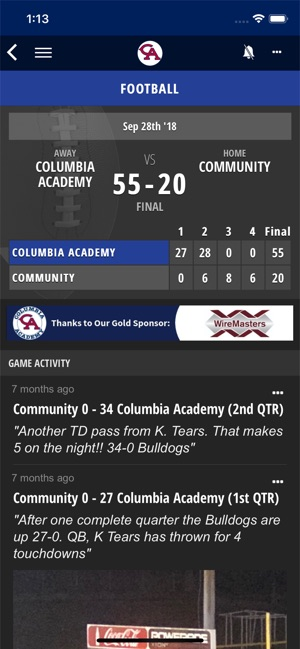 258d9968c5 Columbia Academy Sports on the App Store