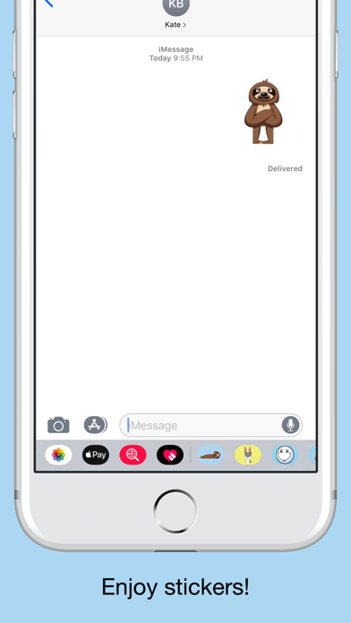Sloth emojis & funny stickers screenshot 5
