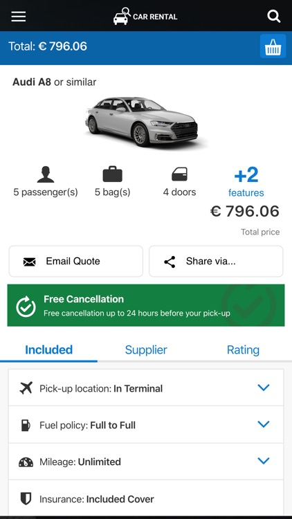 Car rental 24h. Compare prices screenshot-3