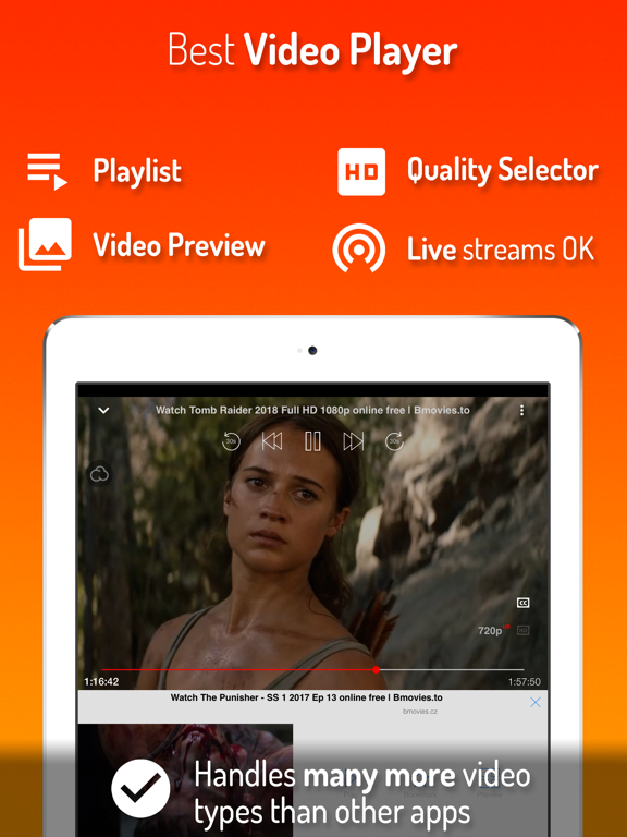 iWebTV for Chromecast, Roku, Fire TV & Airplay - Cast, stream & watch online videos with the best browser screenshot