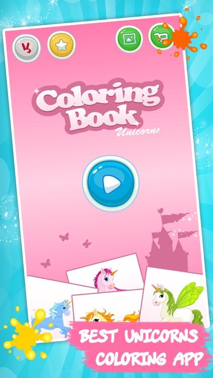 Coloring book Unicorn & Horses screenshot-3