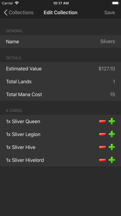 Magic card database (MTG)