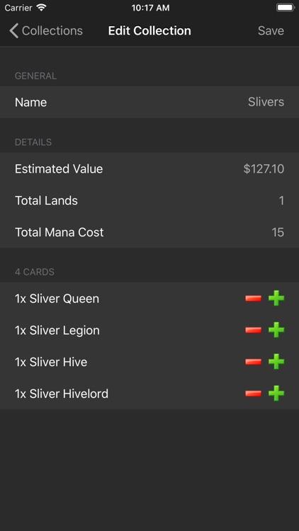Magic card database (MTG) screenshot-3