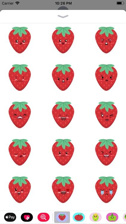 Strawberry stickers app
