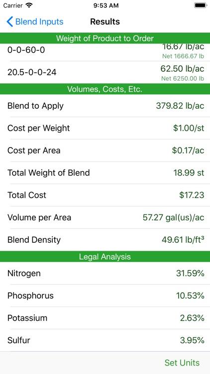 Fertilizer Blend Calculator