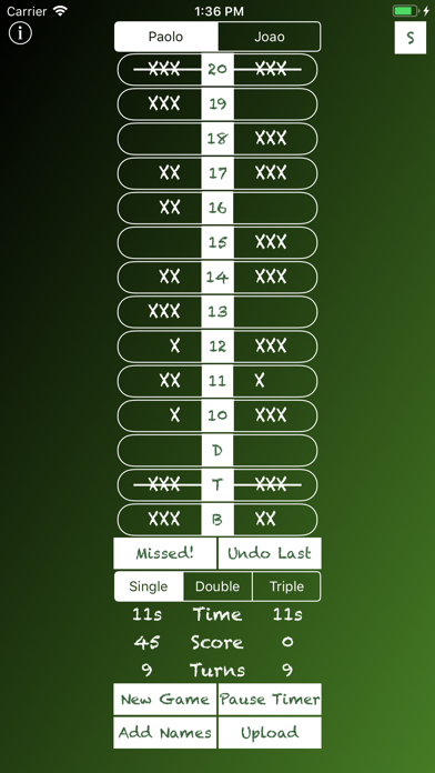 Cricket Darts Chalkboard screenshot three
