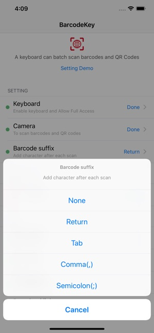 Barcode Keyboard - BarcodeKey on the App Store