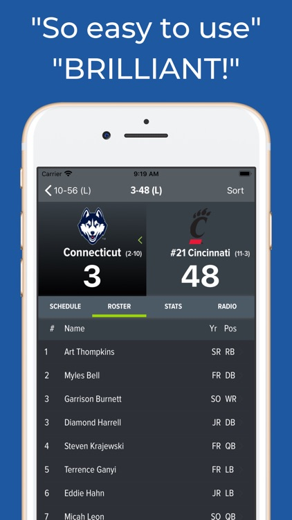 Connecticut Football Schedules