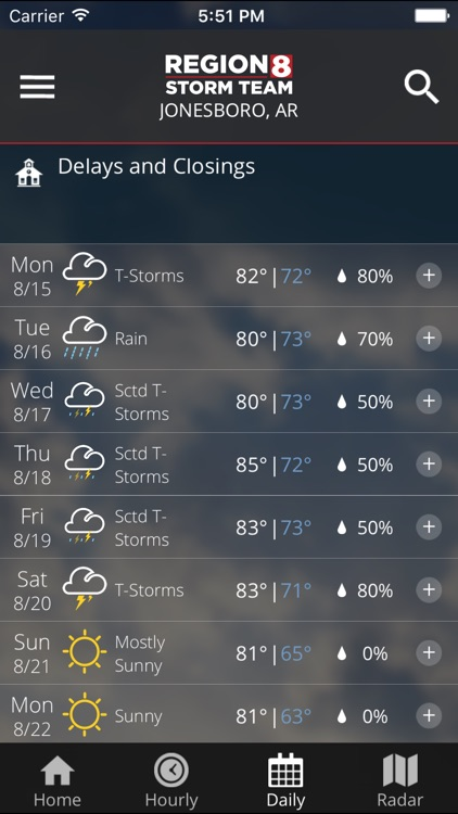 KAIT Region 8 Weather screenshot-2