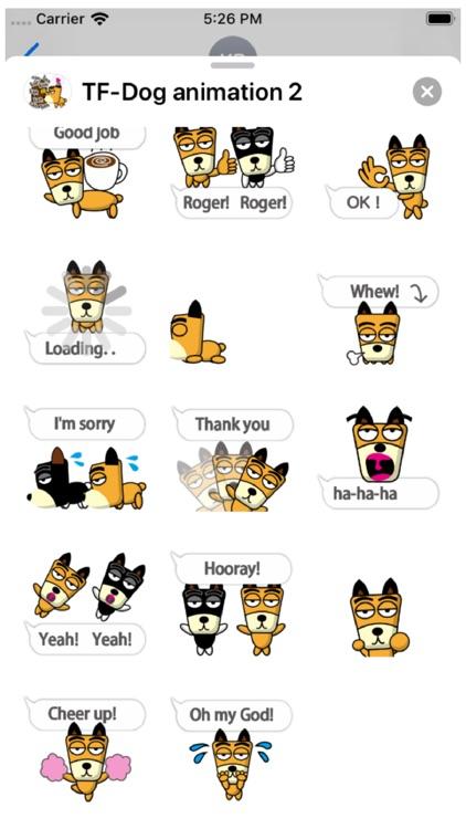 TF-Dog Animation 2 Stickers screenshot-3