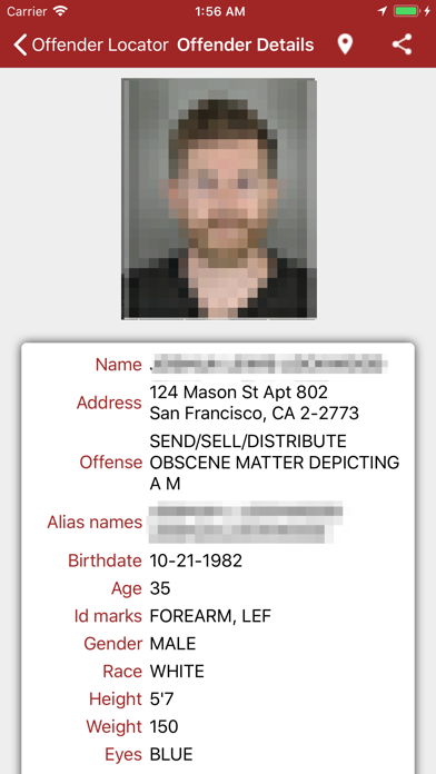 Offender Locator review screenshots