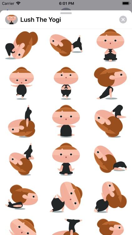 Lush The Yogi Stickers screenshot-3