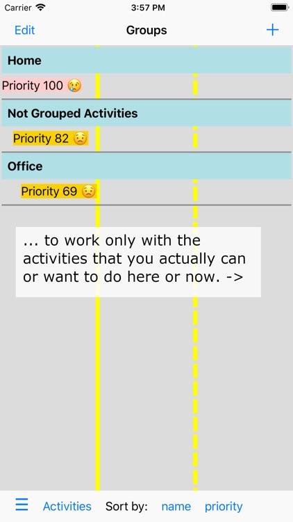 Activities and Priorities screenshot-6