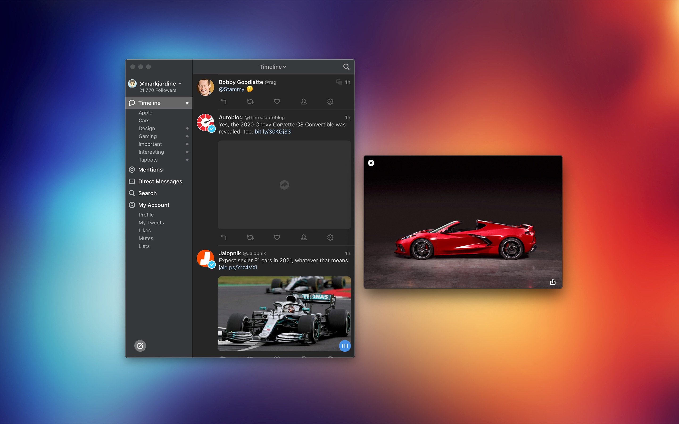 Screenshot do app Tweetbot 3 for Twitter
